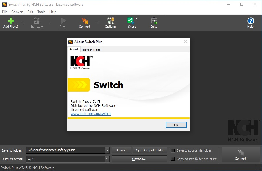 Switch Audio File Converter v7.45 Cracked By Abo Jamal