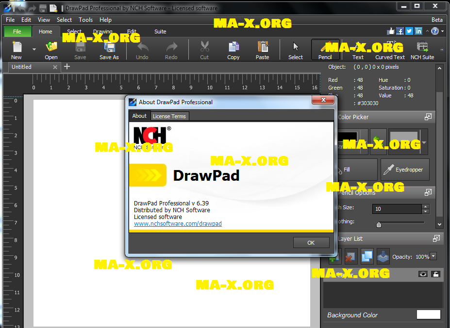 DrawPad Graphic Editor v6.39 BY MAX
